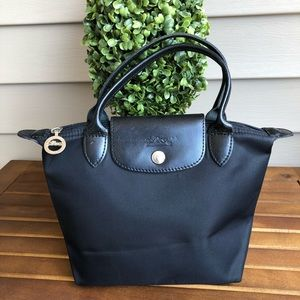 Longchamp Paris Mini Black Nylon Bag